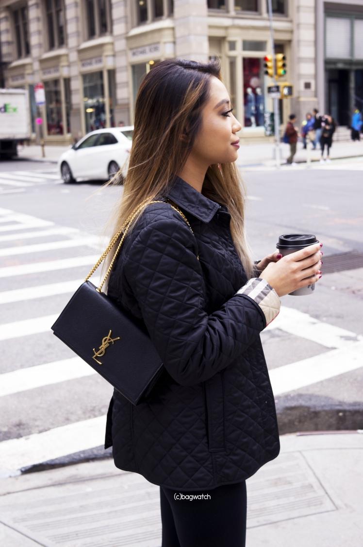 On The Street Saint Laurent Classic Medium Kate Chain Bag